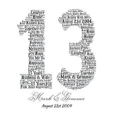 anniversary gifts for 13th wedding anniversary gifts for husband 13th anniversary ideas