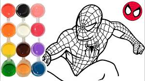 draw u0026 color spiderman homecoming drawing u0026
