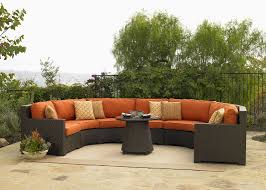 Patio Furniture Sectional - silver coast malibu 4 piece custom outdoor java wicker patio