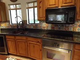 Kitchen With Tile Backsplash Dusty Coyote Mexican Tile Kitchen Backsplash Diy