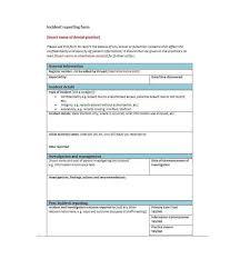 generic incident report template incident report template 10 incident report templates