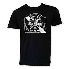 black and blue ribbon blue ribbon men s black heritage logo t shirt