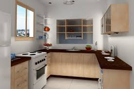 cute kitchen design offering triangle brownish cabinet and well