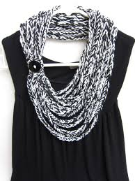crochet necklace black images Crochet chain scarf necklace scarf infinity scarf black and jpg