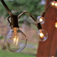 Solar Powered Patio Lights String by Zitrades Patio Lights G40 Globe Party String Lights Decorative