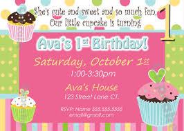 card invitation design ideas cupcake invite birthday party pink