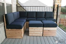 Outdoor Sofa With Chaise Diy Modular Outdoor Seating Shanty 2 Chic