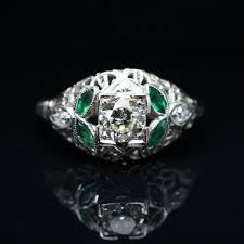 glass wedding rings sale antique late edwardian 0 497 ct diamond green glass