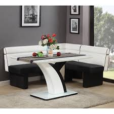 home design corner luxury banquette dining set white wooden