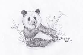 giant panda and bamboo snack u2013 art by breah