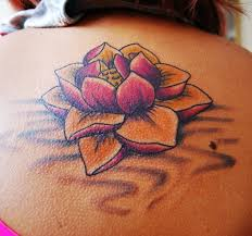 beautiful pretty lotus flower for on back