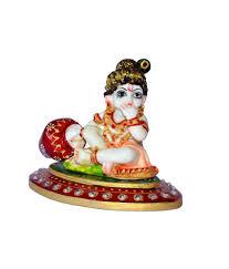 sajawat bazaar white marble ladoo gopal home decor diwali gift