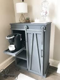 Diy Door Desk diy barn door coffee cabinet shanty 2 chic