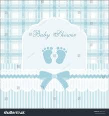 baby shower card baby boywith footprint stock vector 138511691
