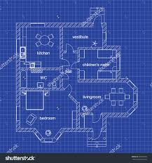 stock images similar to id plan view of an apartment blueprint