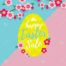 easter egg sale vector happy easter sale banner with paper cut easter egg and