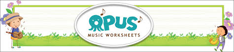 free printable music worksheets opus music worksheets music