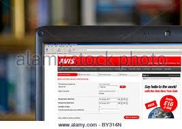si e auto avis website für avis car rental stockfoto bild 40046308 alamy