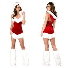 women christmas festival cosplay costumes female pure red