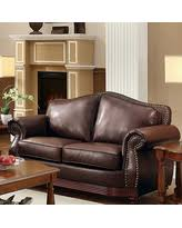 Bonded Leather Loveseat Amazing Deal On Davenport Brown Bonded Leather Loveseat