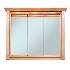 tri view medicine cabinet mirror replacement heritage oak 36x30 triview medicine cabinet bargain outlet