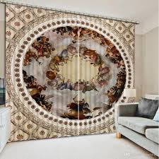 2017 modern living room curtains europe style angel curtain for