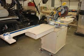 Table Saw Cabinet Plans Fine Woodworking Miter Saw Station Redneck Diy