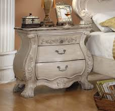 Antique Nightstands With Marble Top Mcferran B1603 Yorkshire Antique Beige Nightstand With Marble Top