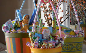 Easter Decorations Ireland by Ruffled Mesh Easter Basket Diy Hometalk