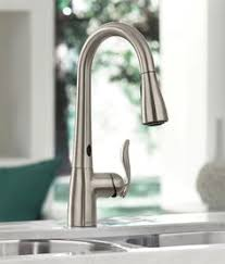 touchless faucet kitchen delta s touch faucet brilliant idea simply touch the sprout or