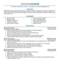 Merchandiser Duties Resume Warehouse Worker Job Description Resume Free Resume Example And