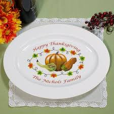 personalized serving platter ceramic personalized thanksgiving platter