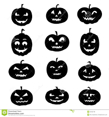 halloween icons silhouettes royalty free stock image image