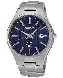 bracelet titanium seiko images Seiko men 39 s solar silver tone titanium bracelet watch 40mm sne381 tif