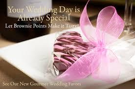 party favors for weddings gourmet brownie wedding favors wedding brownies