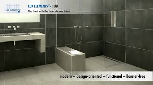 lux elements product flush with the floor showers for every