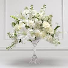 white floral arrangements white wedding flower arrangements white flower