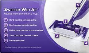 amazon com swiffer jet antibacterial cleaner with febreze