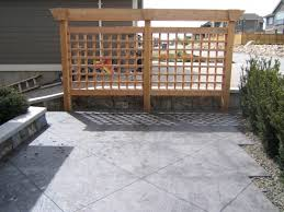 Stamped Concrete Patio Prices by Stamped Concrete Patio With Pergola Stamped Concrete Stairs