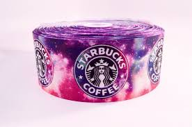 galaxy ribbon 3 wide galaxy starbucks printed on grosgrain cheer bow ribbon