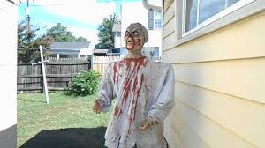 diy zombie animatronic halloween prop youtube