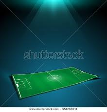 soccer field virtual hologram strategy layout stock vector