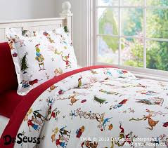 dr seuss u0027s the grinch flannel duvet cover pottery barn kids