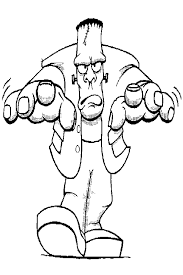 frankenstein coloring pages u2013 fun christmas
