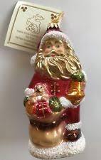 glass santa ornament ebay