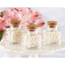 wedding favor jars 12ct kate aspen treat square favor jar with cork stopper