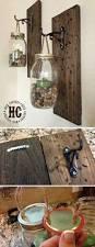 Craft Ideas For Home Decor Fall Wall Sconce Individual Mason Jar Sconce Flower Vase Mason