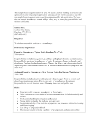 Skills For Jobs Resume by Effective Housekeeping Resume For Job Description Vntask Com