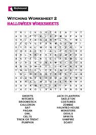 halloween secondary worksheet