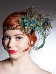 peacock headband absinthe nymphe peacock feather headband ées par baroqueandroll